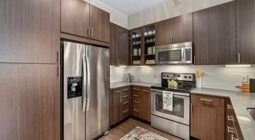 Luxury apartment kitchen in Dallas, TX