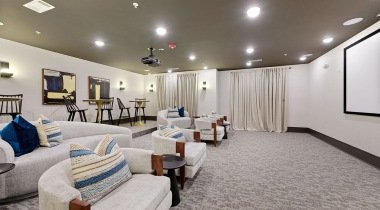 Luxury apartment clubhouse at Cortland Huntersville