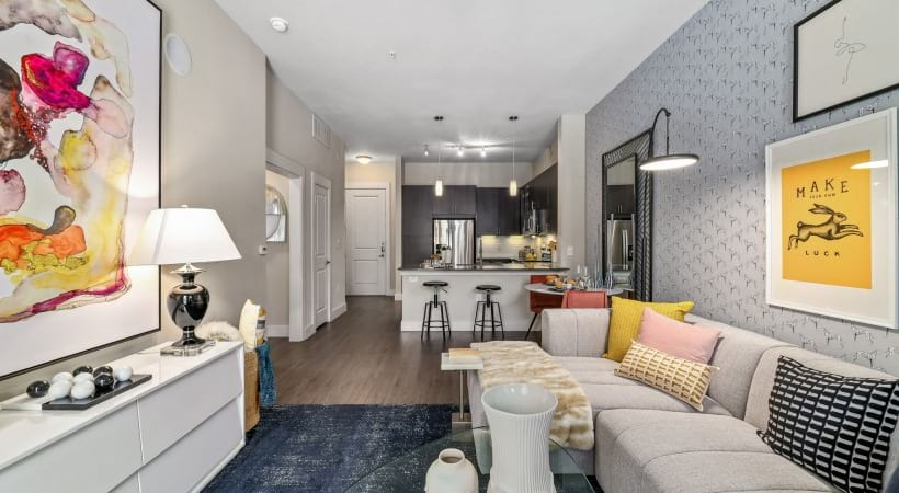 Spacious living areas at apartments for rent in Dallas, TX