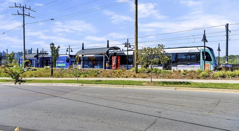 Cortland NoDa Walkability to the Parkwood Light Rail Station