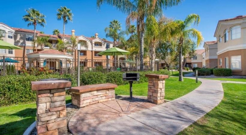 Outdoor Kitchen with Grills at Our Luxury Apartments Near Desert Ridge
