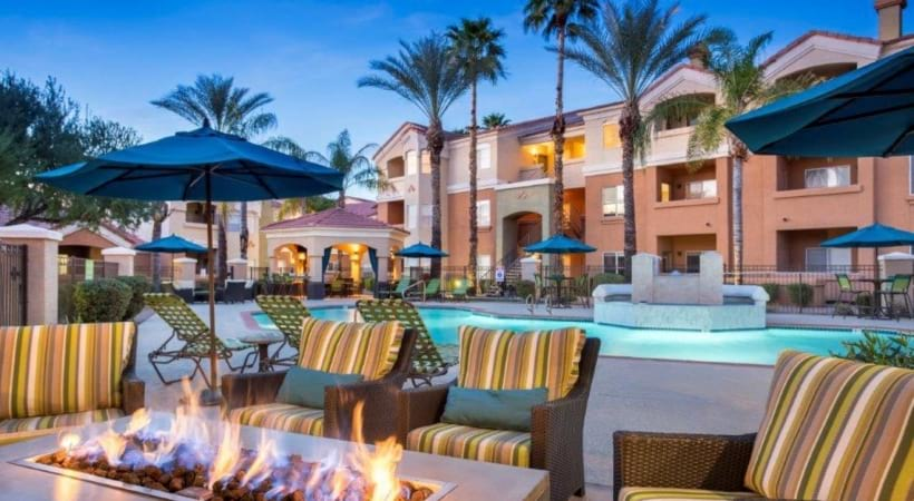 Outdoor Lounge Area at Our Upscale Apartments Near Desert Ridge