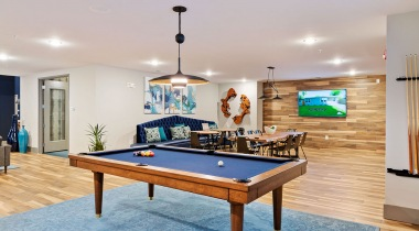 Billiard's room at our luxury apartments near Durham, NC