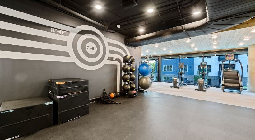 Our Downtown Durham apartment gym