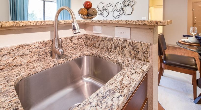 Undermount Sinks with Gooseneck Faucets