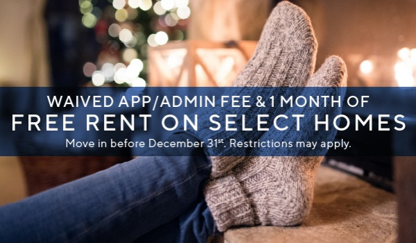 1 month off three-bedroom apartment homes
