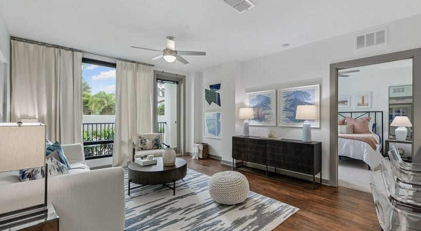 Spacious living areas at our luxury apartments in South Tampa