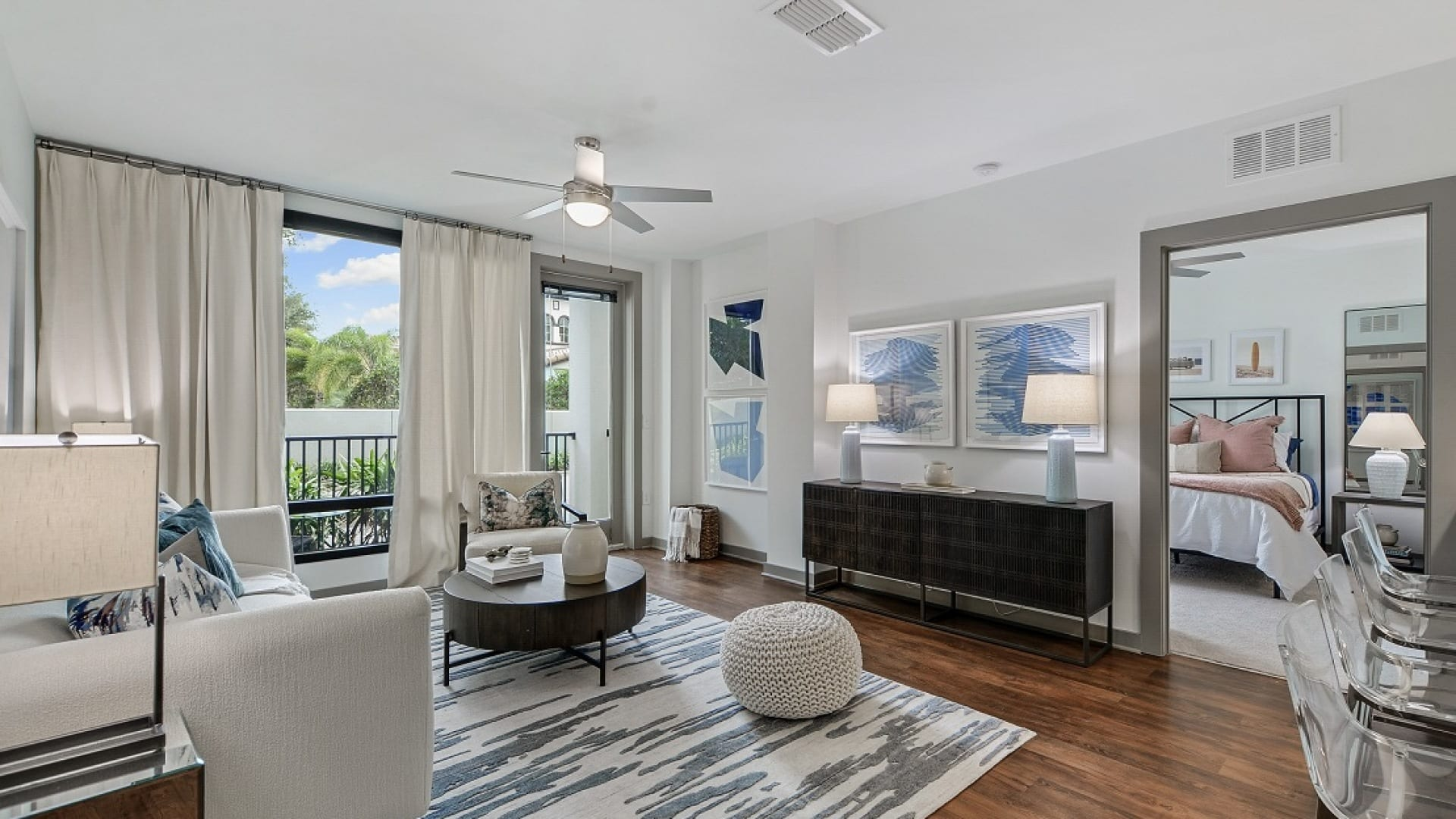 Spacious 2 bedroom apartment floor plan at Cortland Westshore