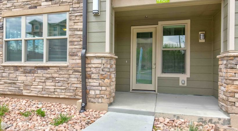 Private entry to a townhome for rent in Broomfield, CO