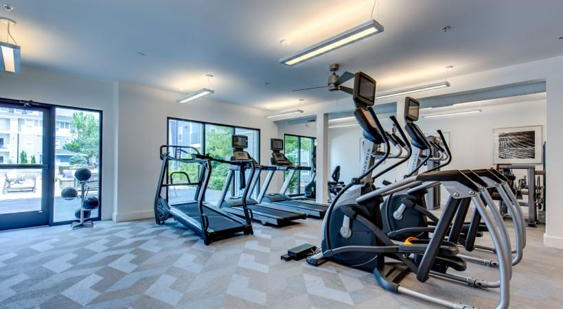 Fitness center at our luxury apartments near Centennial, CO