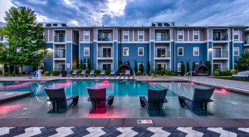 Our Highlands Ranch apartment pool and sun deck