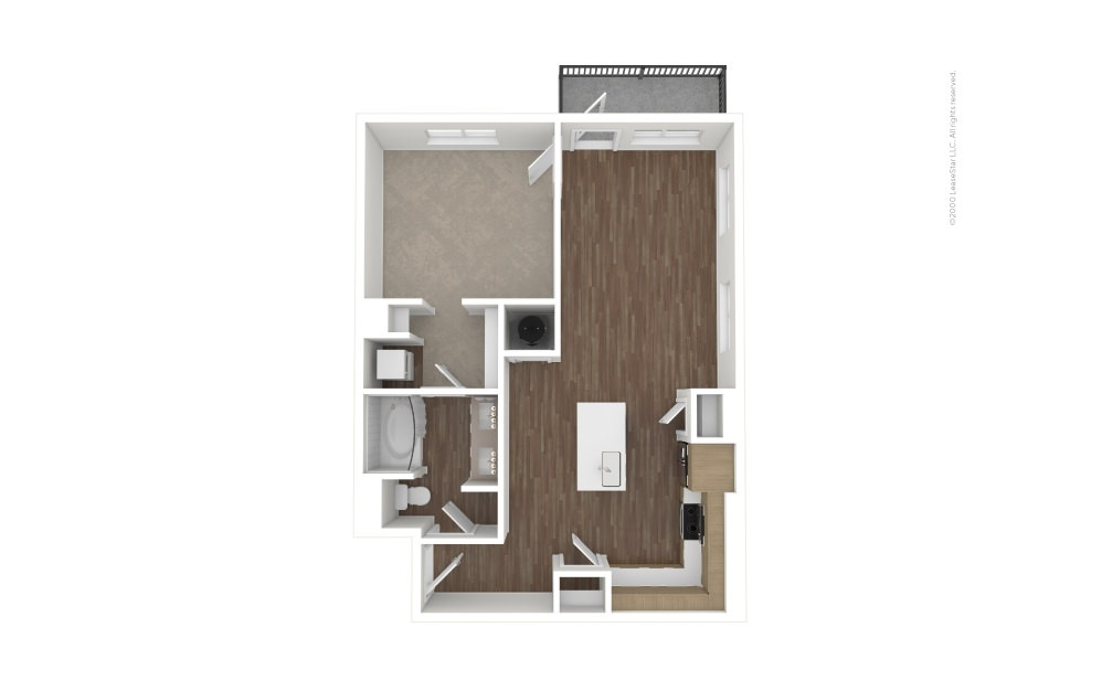 A13 Hall of Fame 1 bedroom 1 bath 838 square feet (1)