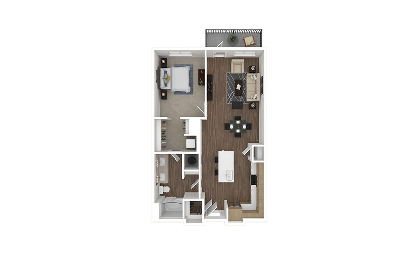 A14 Pennant 1 bedroom 1 bath 843 square feet
