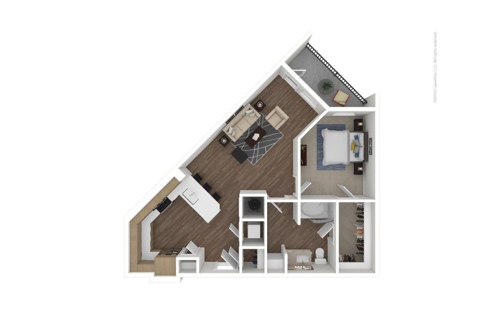 A15 RBI 1 bedroom 1 bath 850 square feet