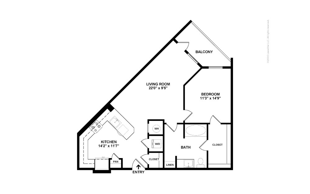 A15 RBI 1 bedroom 1 bath 850 square feet (2)
