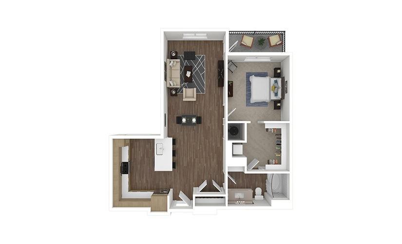 A16 Mendoza Line 1 bedroom 1 bath 883 square feet