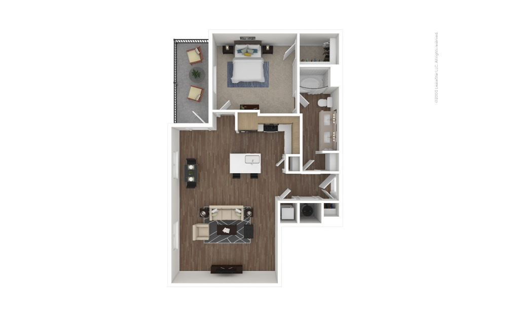 A17 Shortstop 1 bedroom 1 bath 888 square feet