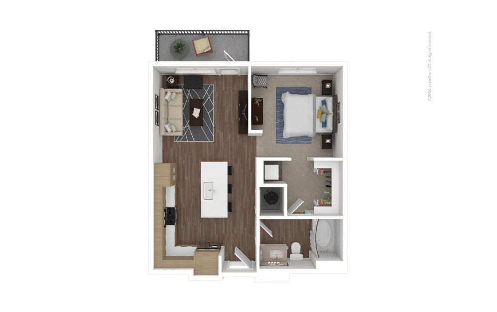 A2 Boston 1 bedroom 1 bath 625 square feet