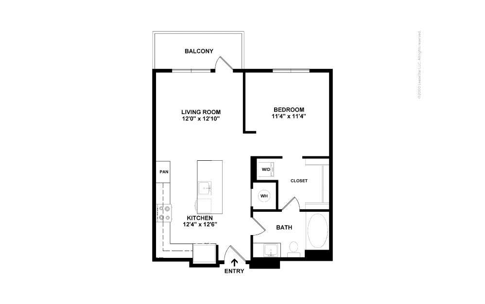 A2 Boston 1 bedroom 1 bath 625 square feet (2)