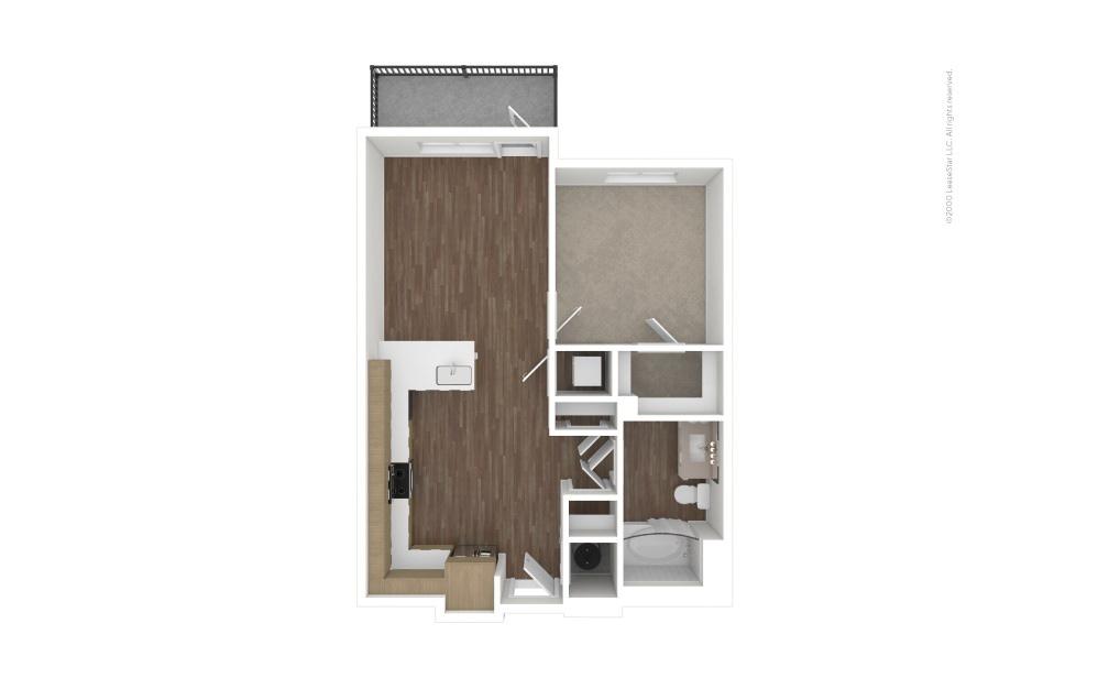 A3 East 1 bedroom 1 bath 633 square feet (1)