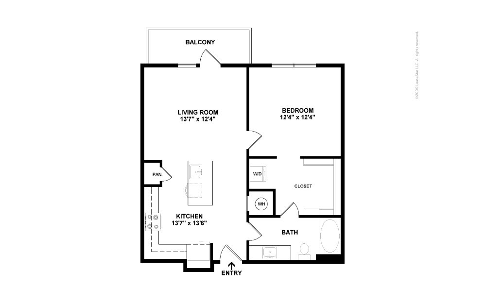 A7 Show 1 bedroom 1 bath 720 square feet (2)