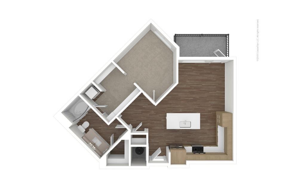 A9 Base Hit 1 bedroom 1 bath 765 square feet (1)