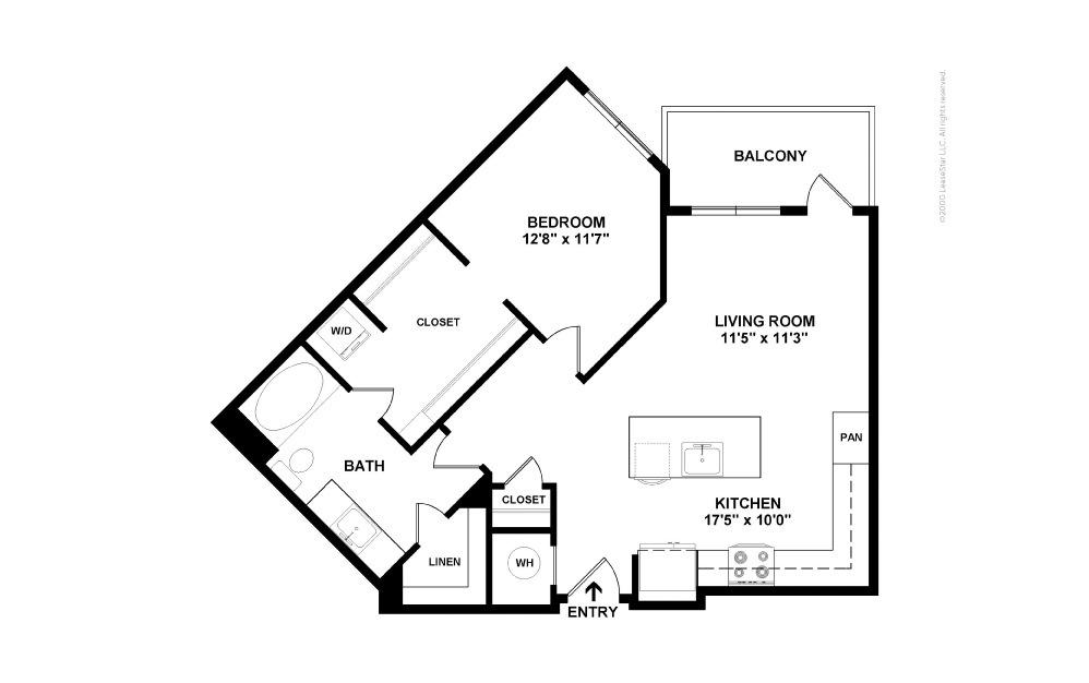 A9 Base Hit 1 bedroom 1 bath 765 square feet (2)