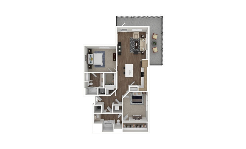 A14 Pennant 2 bedroom 2 bath 1218 square feet