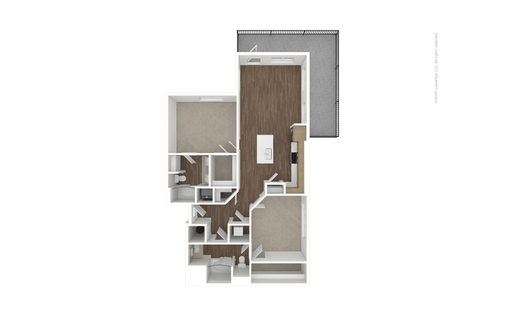 A14 Pennant 2 bedroom 2 bath 1218 square feet (1)