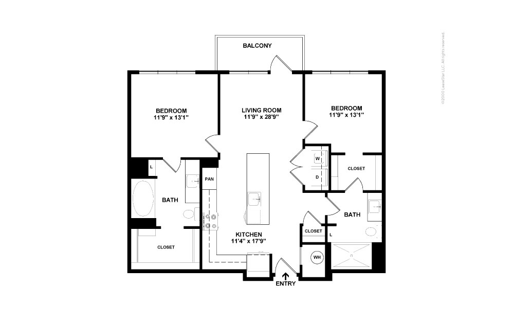 B3 Upper Deck 2 bedroom 2 bath 1010 square feet (2)