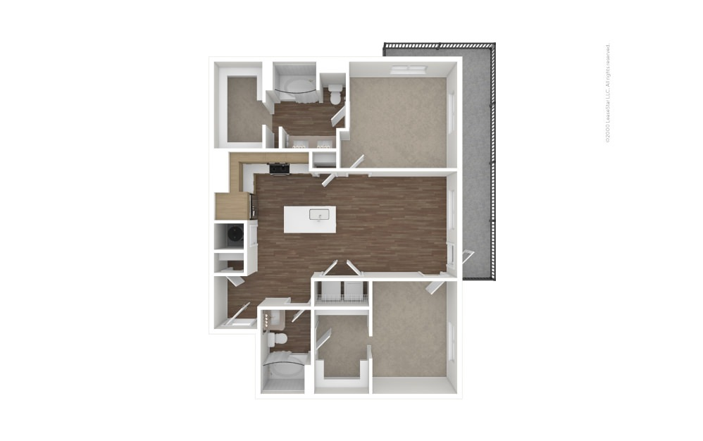 B4 Ace 2 bedroom 2 bath 1025 square feet (1)