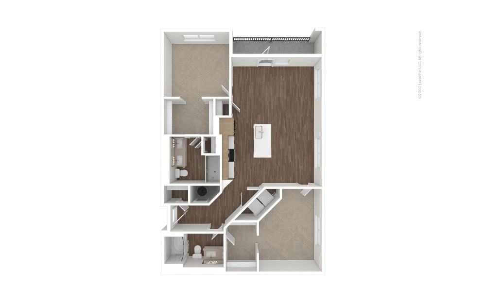 B9 Double Play 2 bedroom 2 bath 1150 square feet (1)