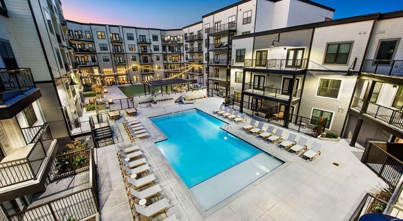 Resort-style pool at Cortland at the Battery Atlanta