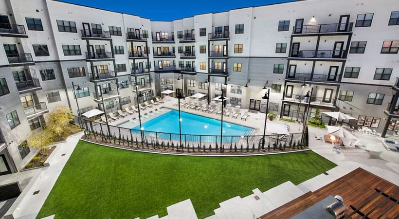 Resort Style Pool and Elevated Sundeck at Our Cortland Apartments