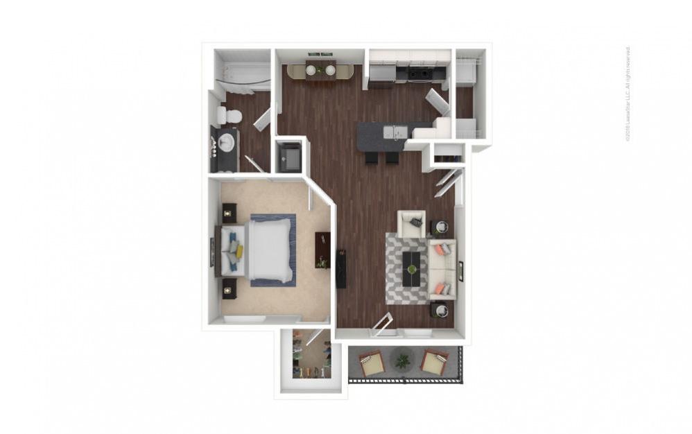 A1 - Clara 1 bedroom 1 bath 689 square feet