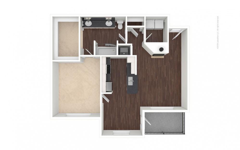 A4 - Gabriella 1 bedroom 1 bath 832 square feet (1)
