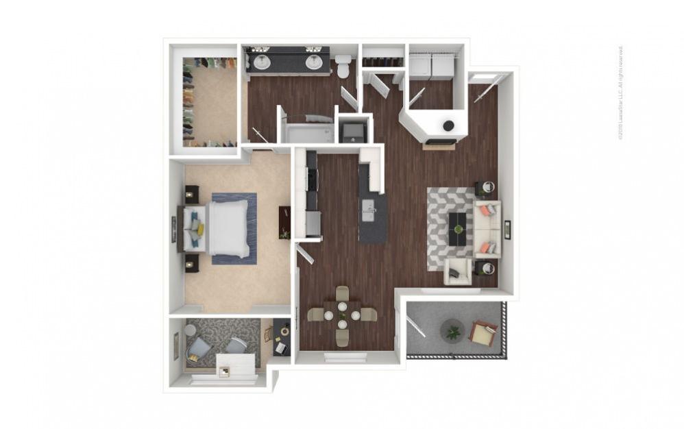 A5 - Jacqueline 1 bedroom 1 bath 901 square feet