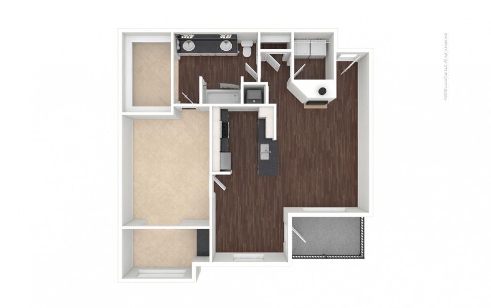 A5 - Jacqueline 1 bedroom 1 bath 901 square feet (1)