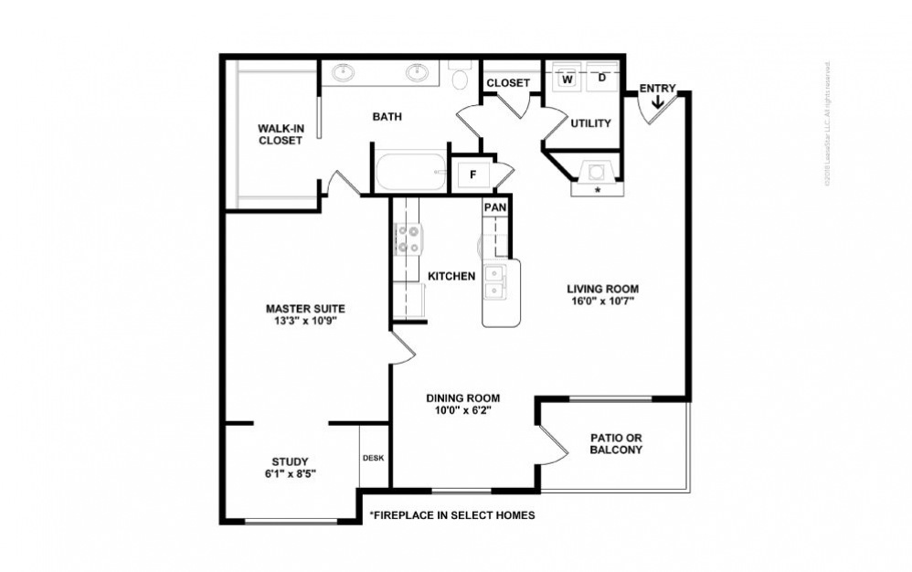 A5 - Jacqueline 1 bedroom 1 bath 901 square feet (2)