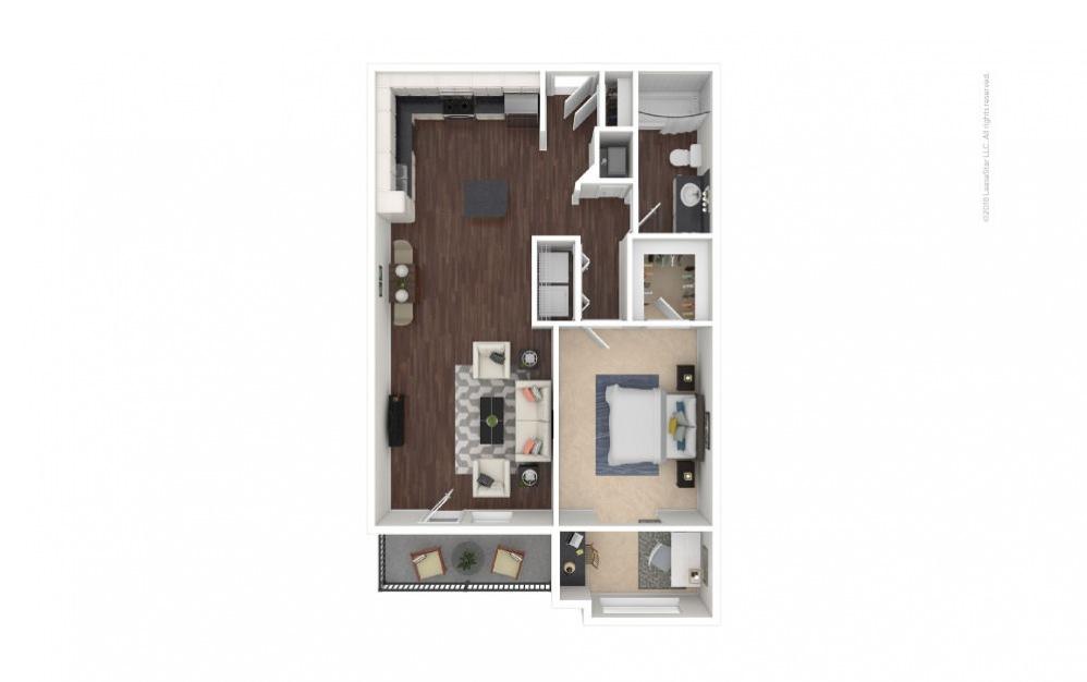 A3 - Lauren 1 bedroom 1 bath 826 square feet