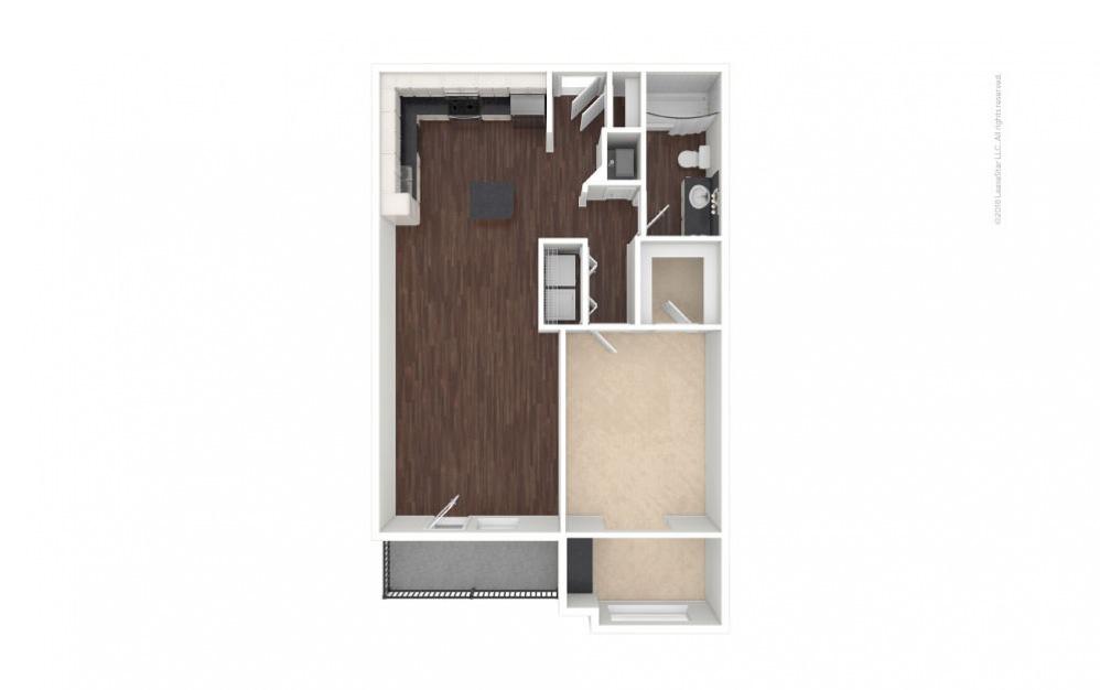 A3 - Lauren 1 bedroom 1 bath 826 square feet (1)