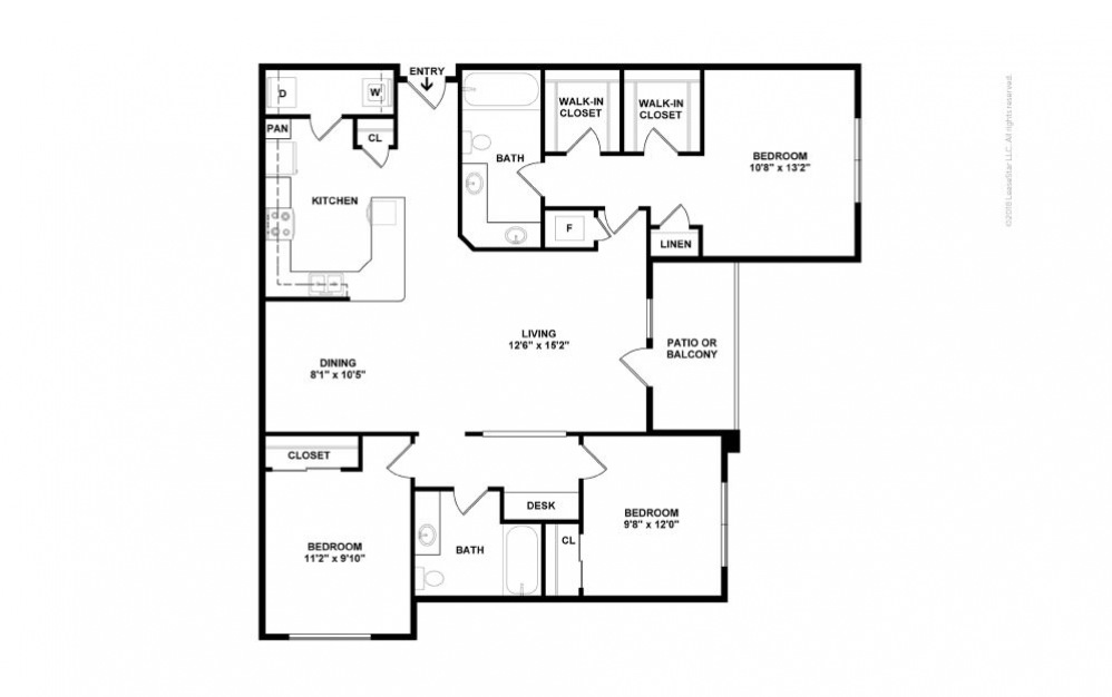 C1 - Lillian 3 bedroom 2 bath 1314 square feet (2)
