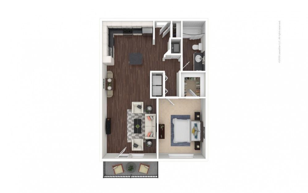 A2 - Olivia 1 bedroom 1 bath 756 square feet