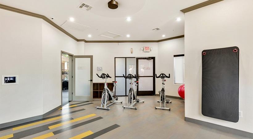 Yoga/spin studio at our apartments near East Phoenix, AZ