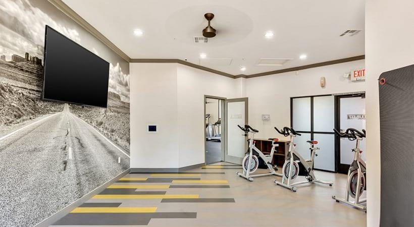 Our Camelback East Phoenix apartment gym with yoga studio