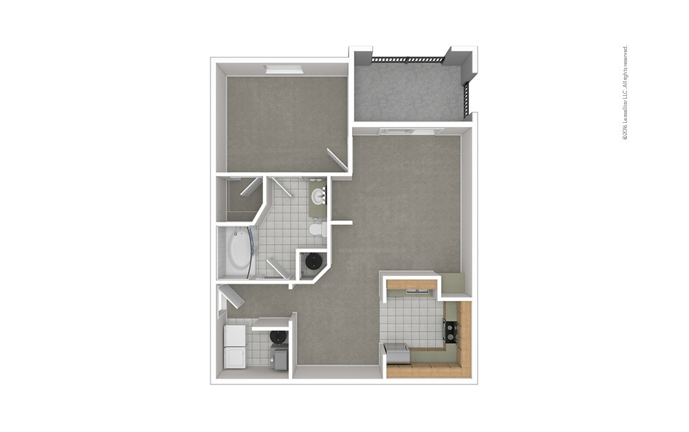 A2 1 bedroom 1 bath 821 square feet (1)