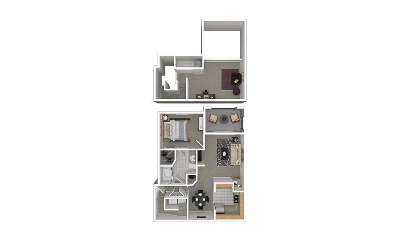 A6 1 bedroom 1 bath 1085 square feet