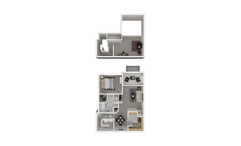 A8 1 bedroom 1 bath 1215 square feet
