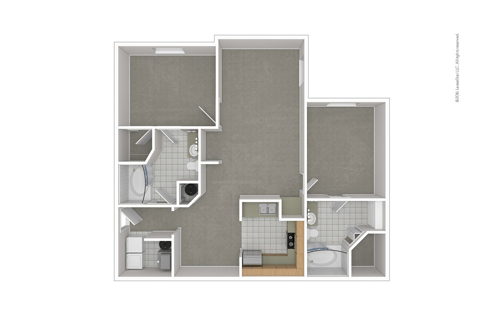 B2 2 bedroom 2 bath 1205 square feet (1)