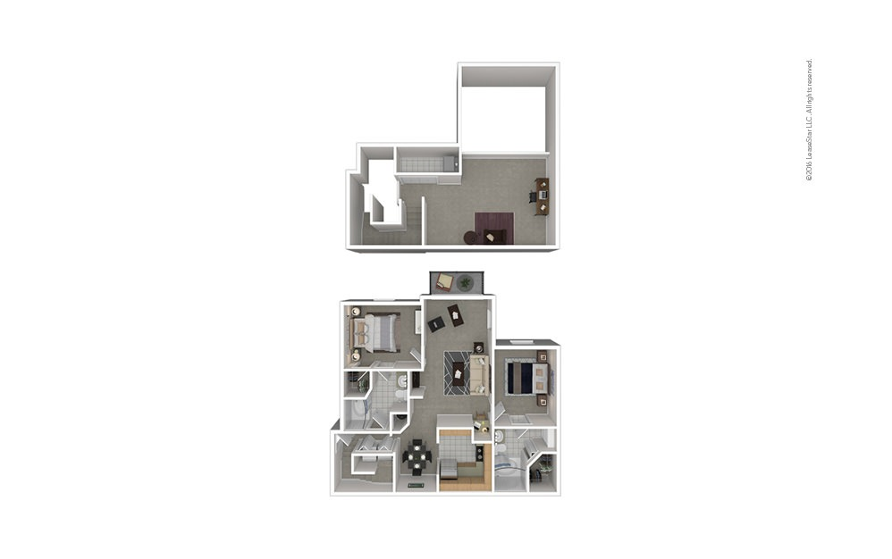 B8 2 bedroom 2 bath 1456 square feet